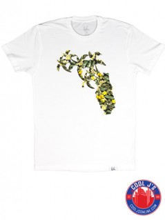 LYFE FLORAL HOMEGROWN WHITE TEE at Cool J's in Miami