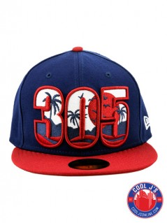 NEW ERA 5950 305 DADE COUNTY DARK ROYAL FITTED at Cool J's in Miami
