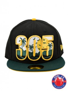 NEW ERA 5950 305 DADE COUNTY BLACK & GOLD FITTED at Cool J's in Miami
