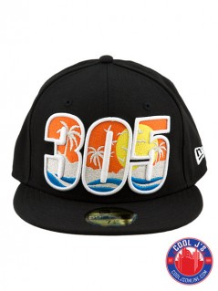 NEW ERA 5950 305 DADE COUNTY BLACK FITTED at Cool J's in Miami