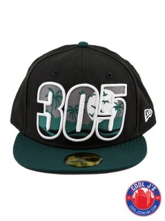NEW ERA 5950 305 DADE COUNTY BLACK/GREEN FITTED at Cool J's in Miami