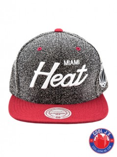 MITCHELL & NESS MIAMI HEAT STATIC SNAP BACK at Cool J's in Miami
